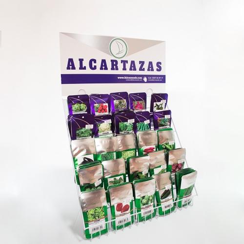 Exhibidor de alcartazas semillas PL y de especialidad